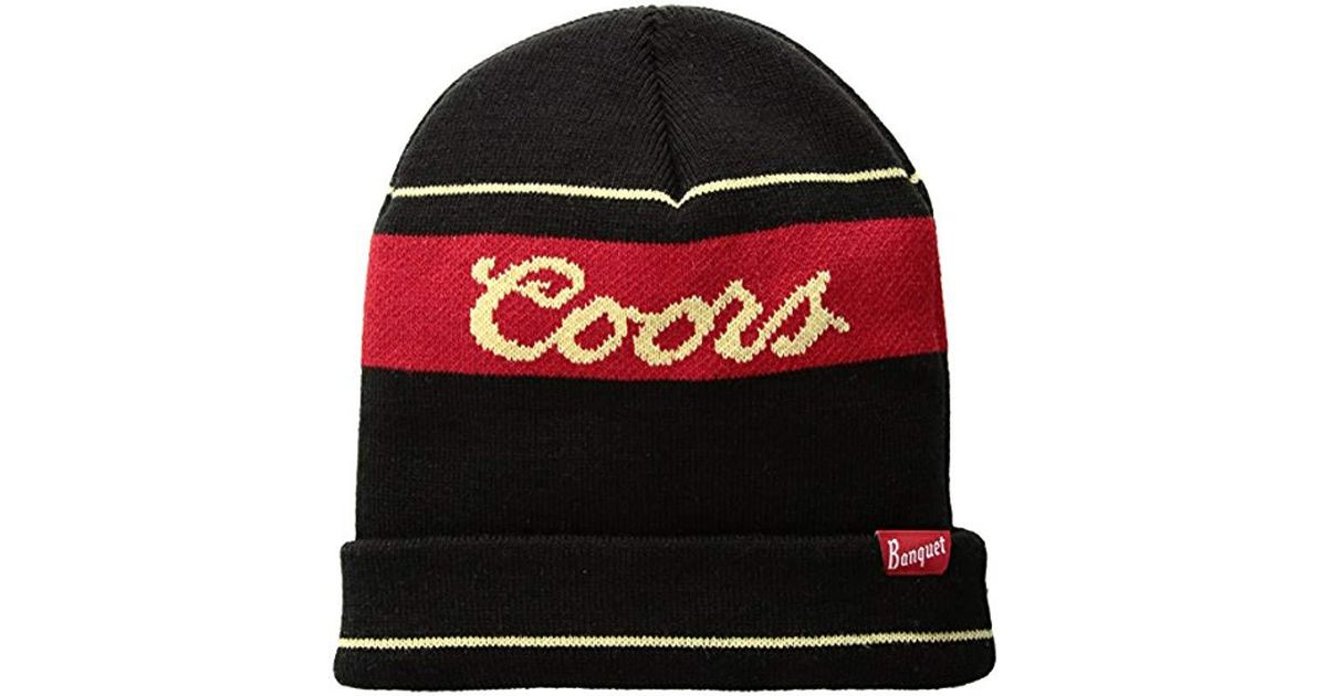 219140e5 Lyst - Brixton Coors Signature Beanie in Black for Men