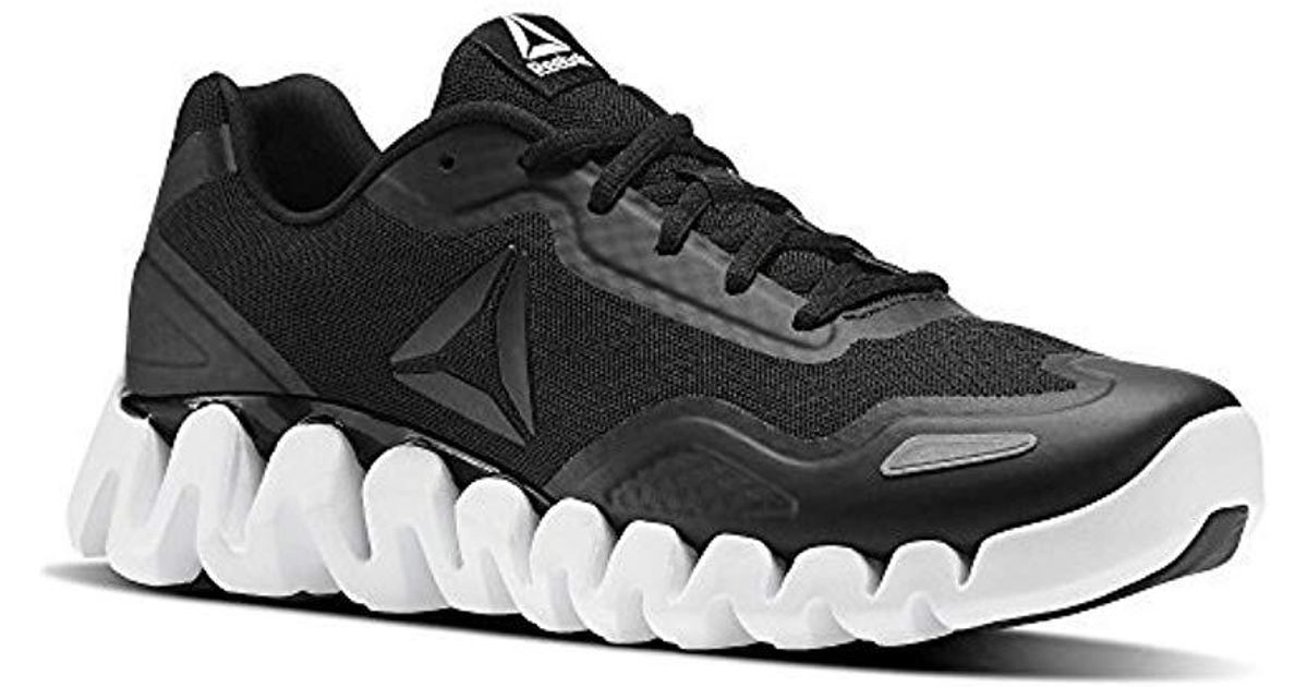 Lyst - Reebok Zigpulse Running Shoe Carbon in White for Men 0632d8c98