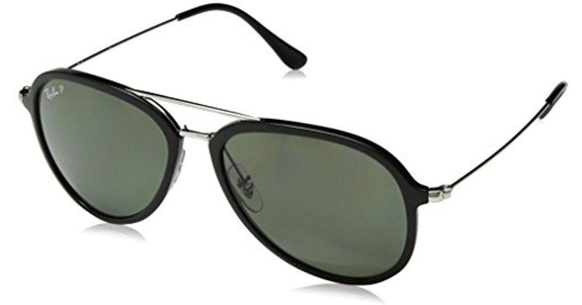 66e5ad329e Lyst - Ray-Ban Plastic Unisex Polarized Aviator Sunglasses