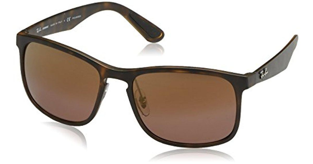 9f63436d29 Lyst - Ray-Ban Rb4264 Chromance Lens Square Sunglasses in Brown for Men -  Save 27%