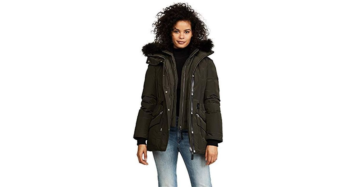 09d50604c Mackage - Black Katryn Hip Length Classic Down Jacket With Fur Hood - Lyst