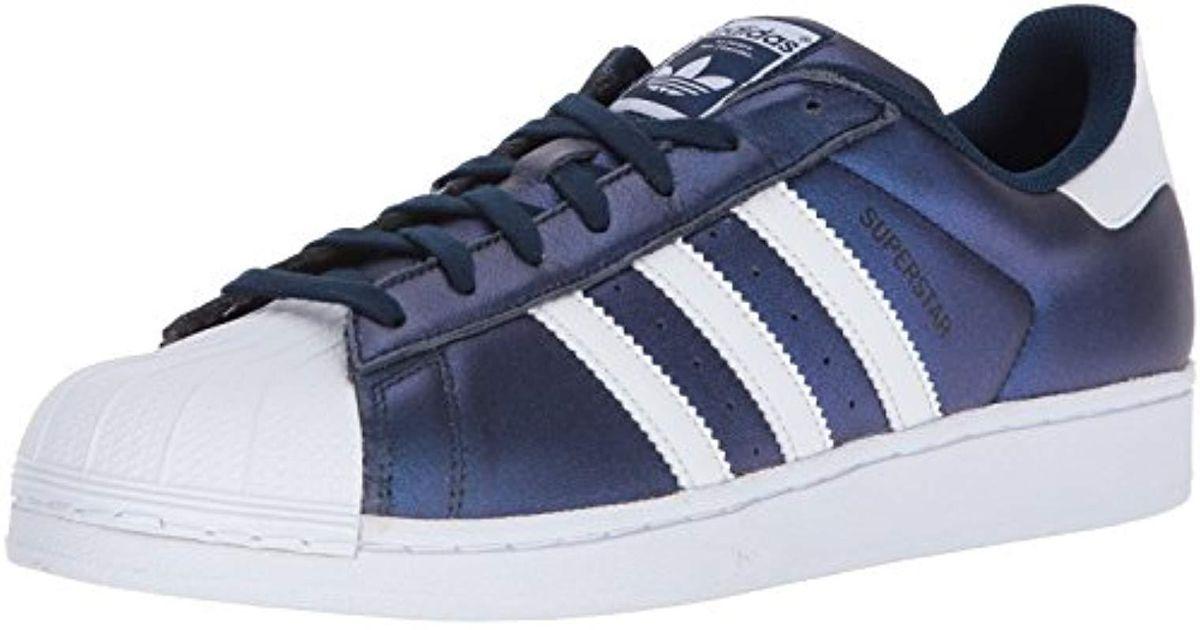 adidas superstar metallic blue
