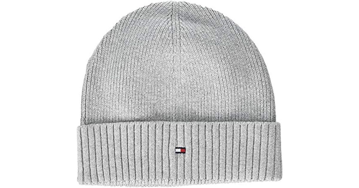 8bd332eab18 Tommy Hilfiger Pima Cotton Cashmere Beanie in Gray for Men - Lyst