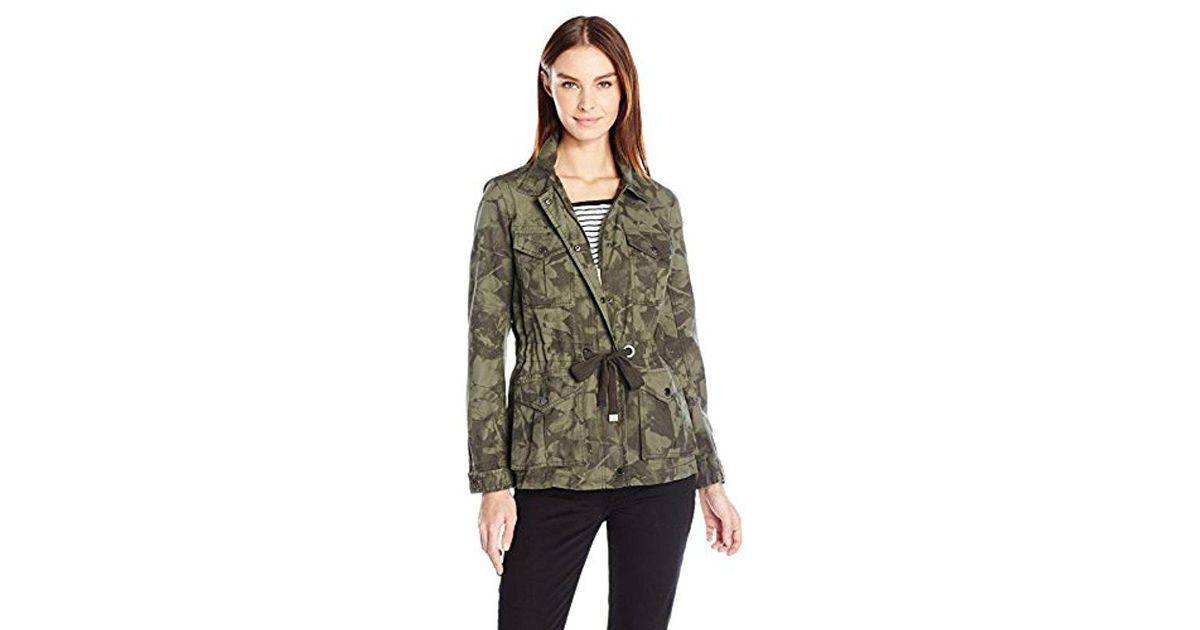 3164a0564a177 Lyst - Calvin Klein Jeans Camo Utility Field Jacket in Green - Save 61%
