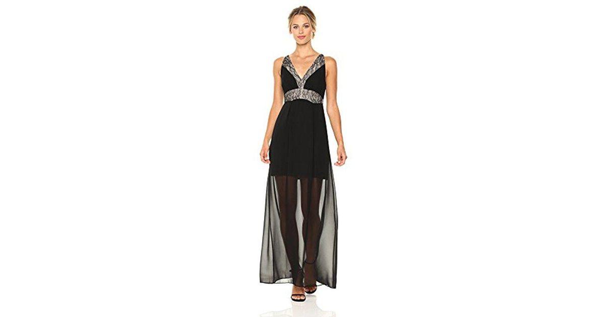 5951f8edbde Lyst - BCBGeneration Lace Paneled Maxi Dress in Black - Save 45%