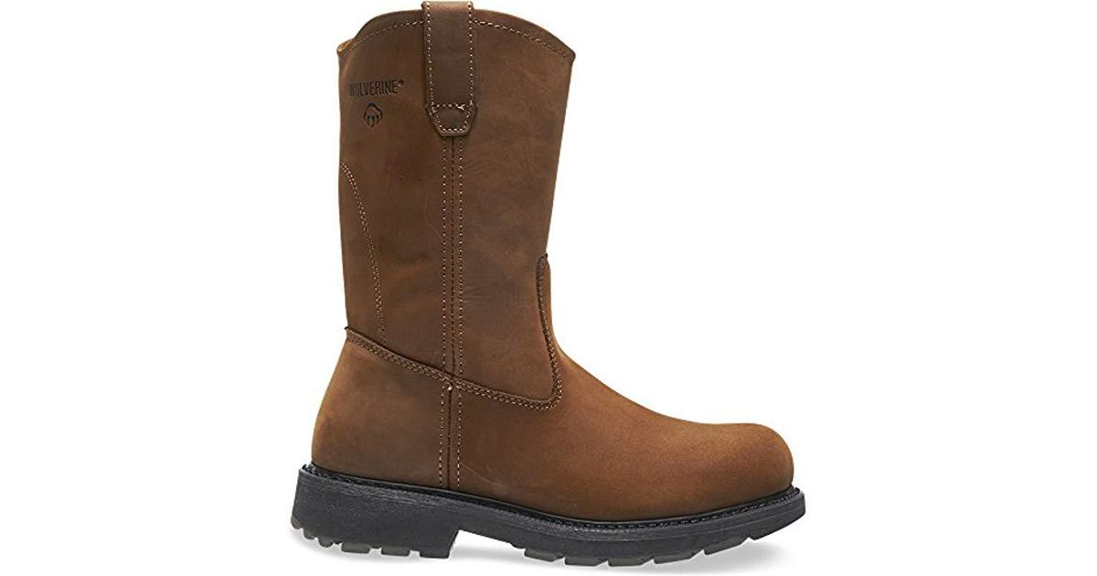 d0fdbdf80a7 Wolverine - Brown Dd Work Steel Toe Wellington for Men - Lyst