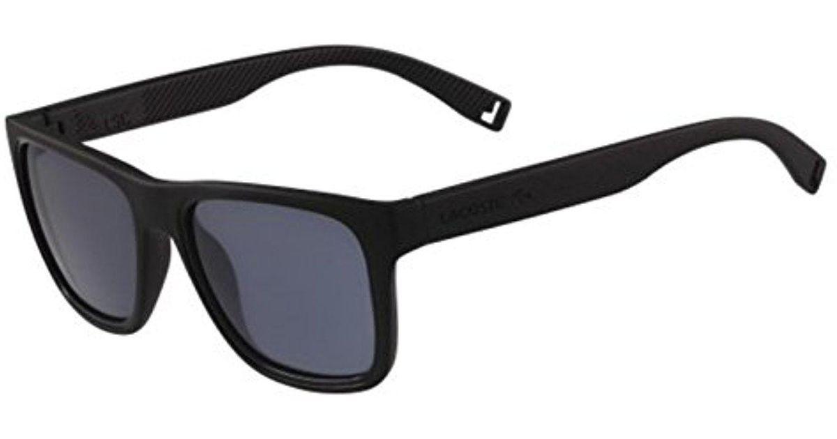 b835c145479 Lyst - Lacoste L816s Rectangular Sunglasses in Black for Men - Save 3%