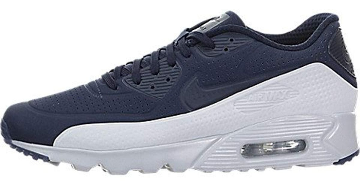 huge discount 08691 1e548 Nike Air Max 90 Ultra Moire Running Shoes in Blue for Men - Lyst