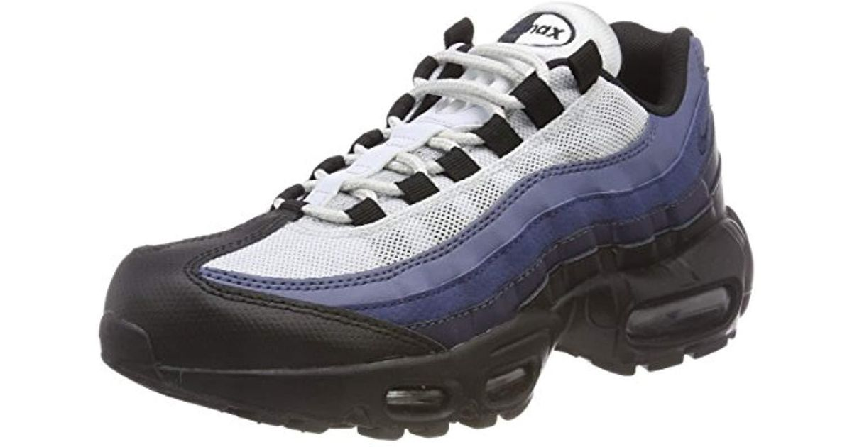 save off c7702 cfab4 Nike Air Max 95 Essential Low-top Sneakers, (black obsidian-navy Blue-pure  Platinum 028), 5.5 Uk 38.5 Eu in Black for Men - Lyst