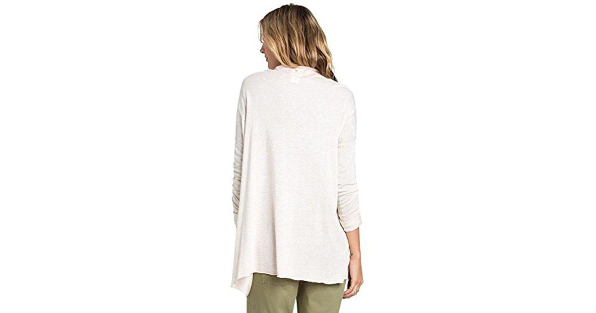 Lyst - Billabong Junior s Outside The Lines Lightweight Oversized Cardigan  in White d72cea43d