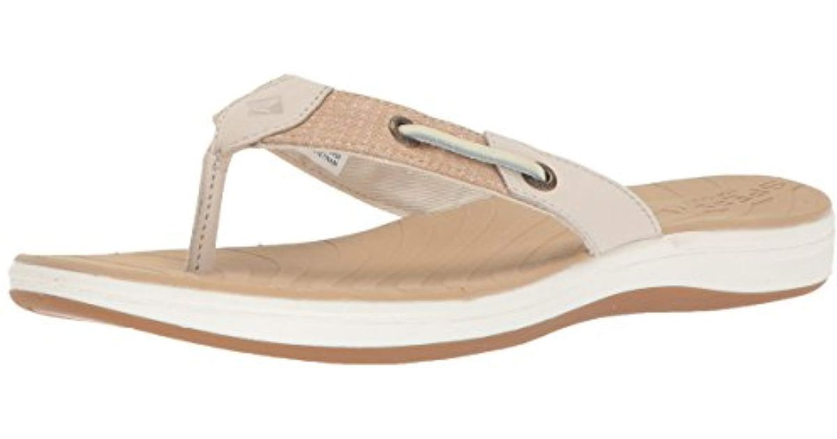 952220c7eef4c Lyst - Sperry Top-Sider Seabrook Surf Two-tone Flat Sandal in Natural -  Save 51%