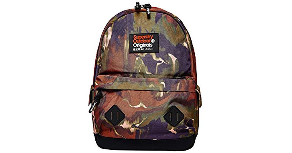 Grey Camo Men's Backpack Superdry Mono Camo Montana 30x45x15 cm Multicolour