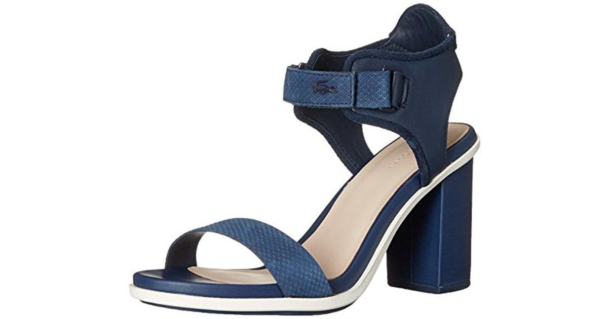 4db8ff718e3 Lyst - Lacoste Lonelle High-heel Sandal in Blue