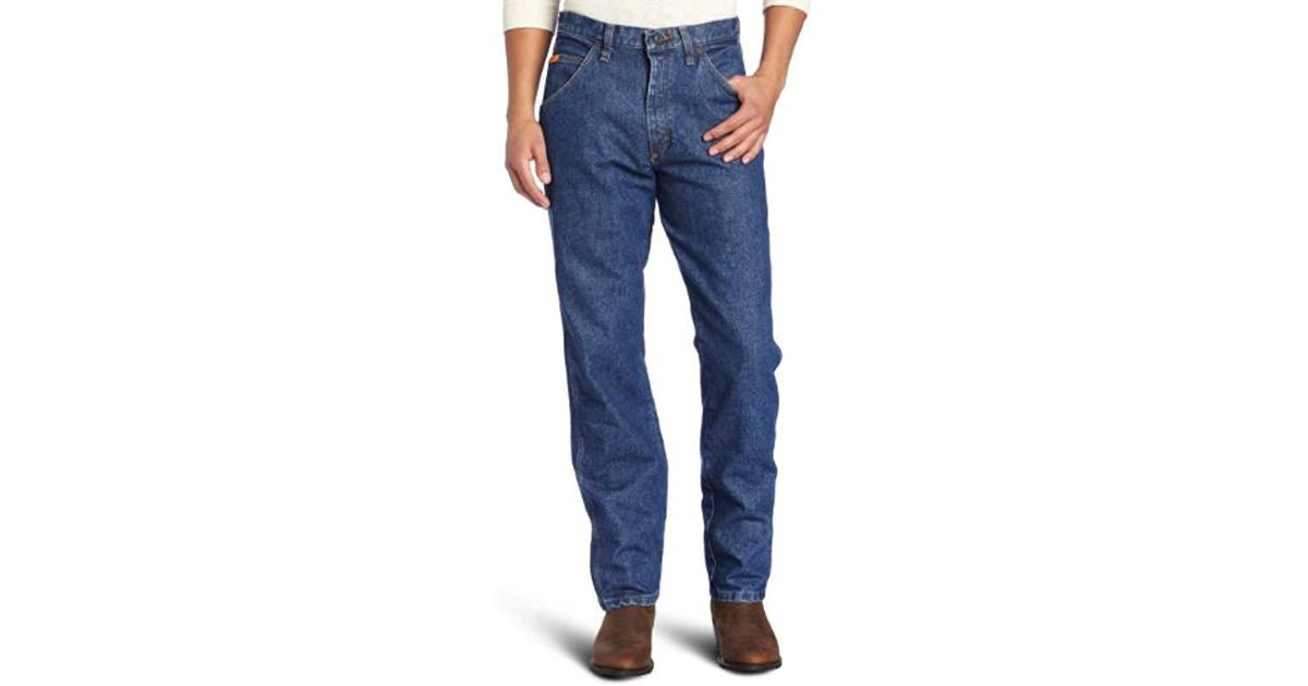 3ef04cde Lyst - Wrangler RIGGS Workwear Flame Resistant Relaxed Fit Jean in Blue for  Men