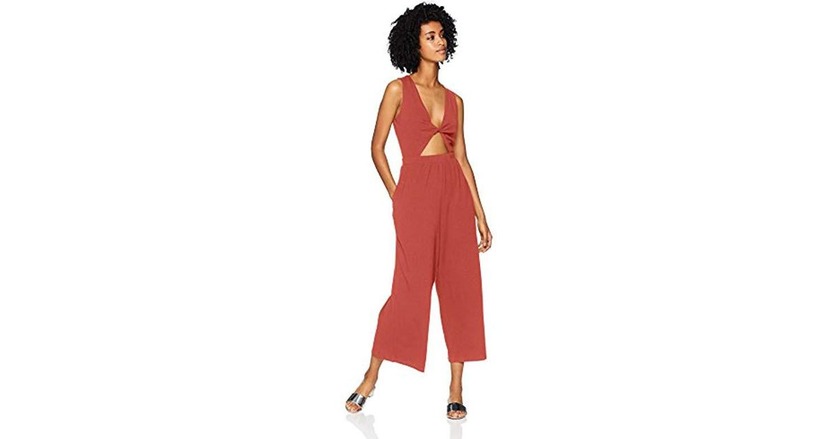 a7869119cca4 Lyst - MINKPINK Twist Front Playsuit in Red