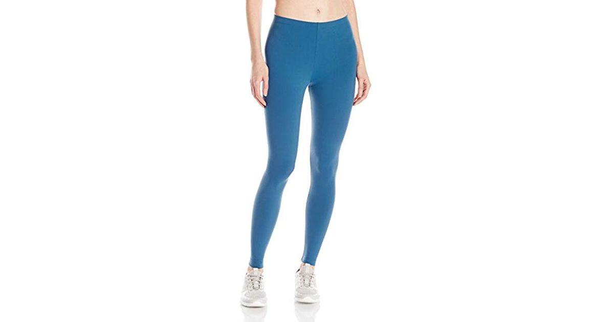 9dcfe722f3c9a Danskin Classic Supplex Body Fit Ankle Legging in Blue - Save 28% - Lyst