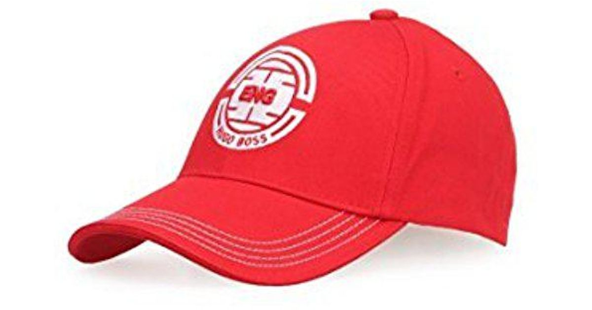11b9bf36cde Lyst - Boss Cap Flag in Red for Men - Save 7.5%