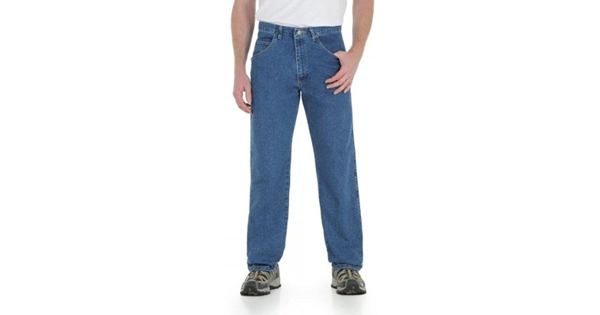 209da0c7 Lyst - Wrangler Big & Tall Rugged Wear Mechanical Stretch Relaxed-fit Jean  in Blue for Men