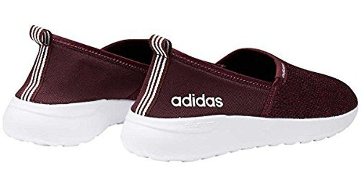 Lyst - adidas Neo Lite Racer Slip On W Casual Sneaker in Red 96662cbb4