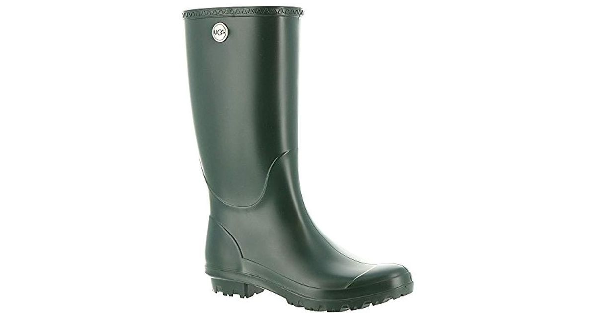 8bb89b837508 Lyst - UGG Shelby Matte Rain Boot in Green