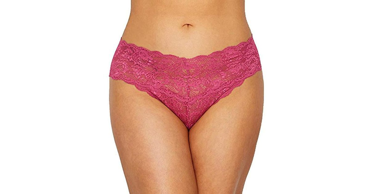 78f5a1fba5b Lyst - Cosabella Plus Size Say Never Extended Cutie Lowrider Thong in  Purple - Save 31%