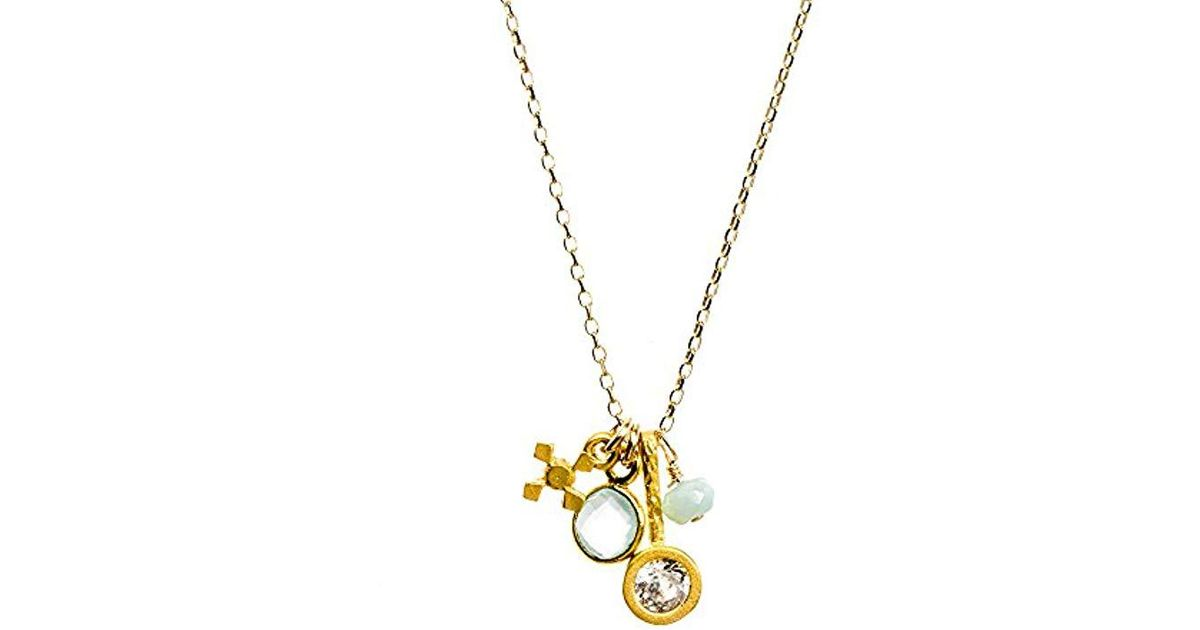 8af13559c1caba Lyst - Dogeared Gold Dipped All Good Things Gem Necklace 16