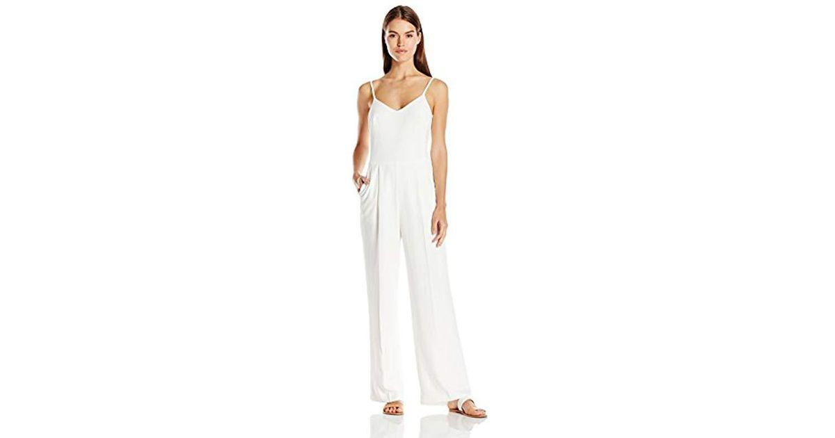 a09649ff93a4 Lyst - Trina Turk Zadie Spaghetti Strap Wide Leg Jumpsuit in White