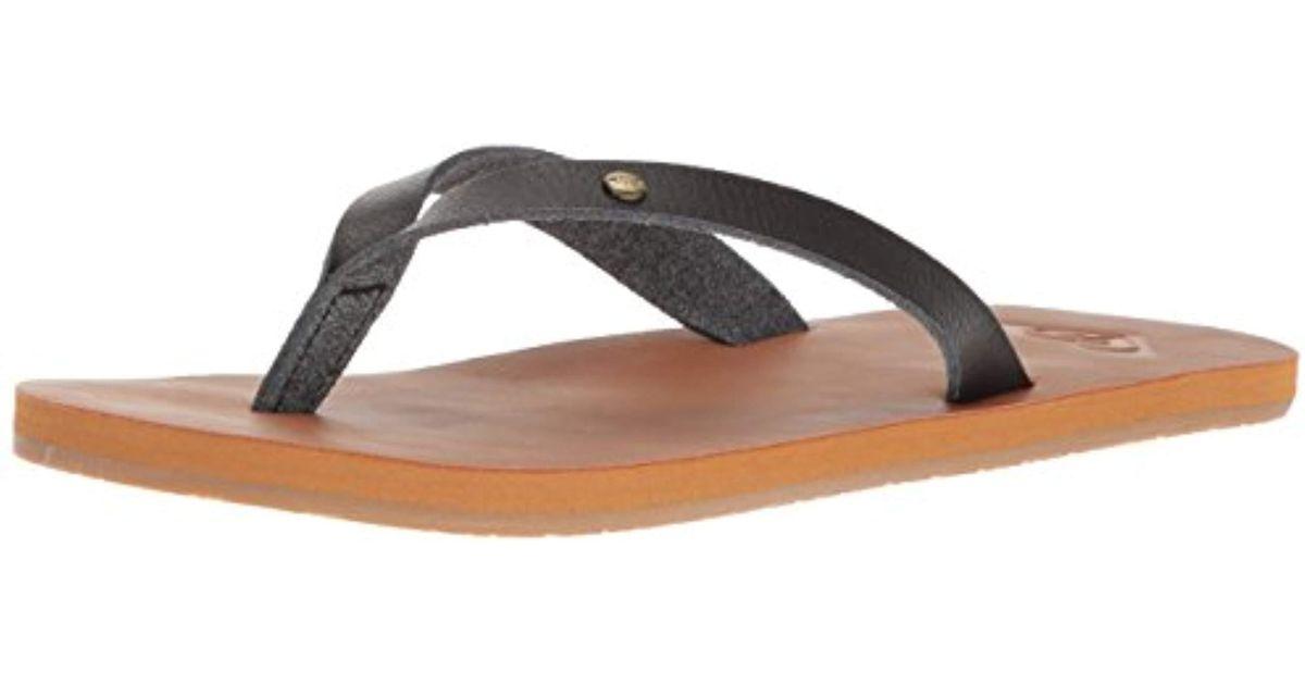 3f7e6ad9874 Lyst - Roxy Jyll Flip Flop Sandal in Black