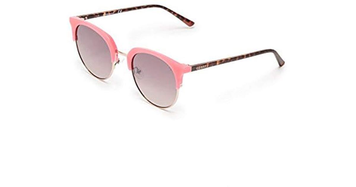 5dc307726 Lyst - Guess Danny Eye Candy Round Sunglasses in Pink