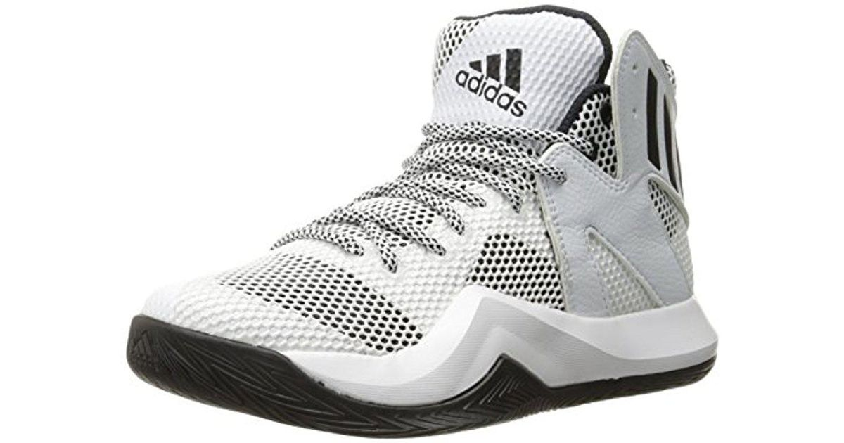 d7b4f70f751 adidas Performance Crazy Bounce Basketball Shoe in White for Men - Lyst
