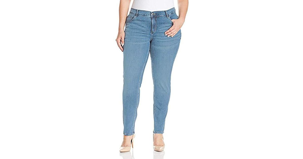ff81749a Lyst - Lee Jeans Plus-size Easy Fit Frenchie Skinny Jean in Blue