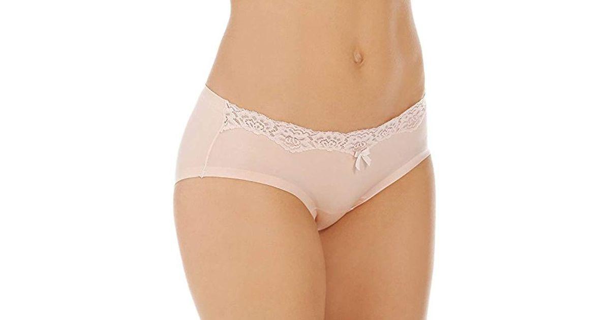 0ef3203e7de Lyst - Maidenform Comfort Devotion Embellished Hipster Panty in White