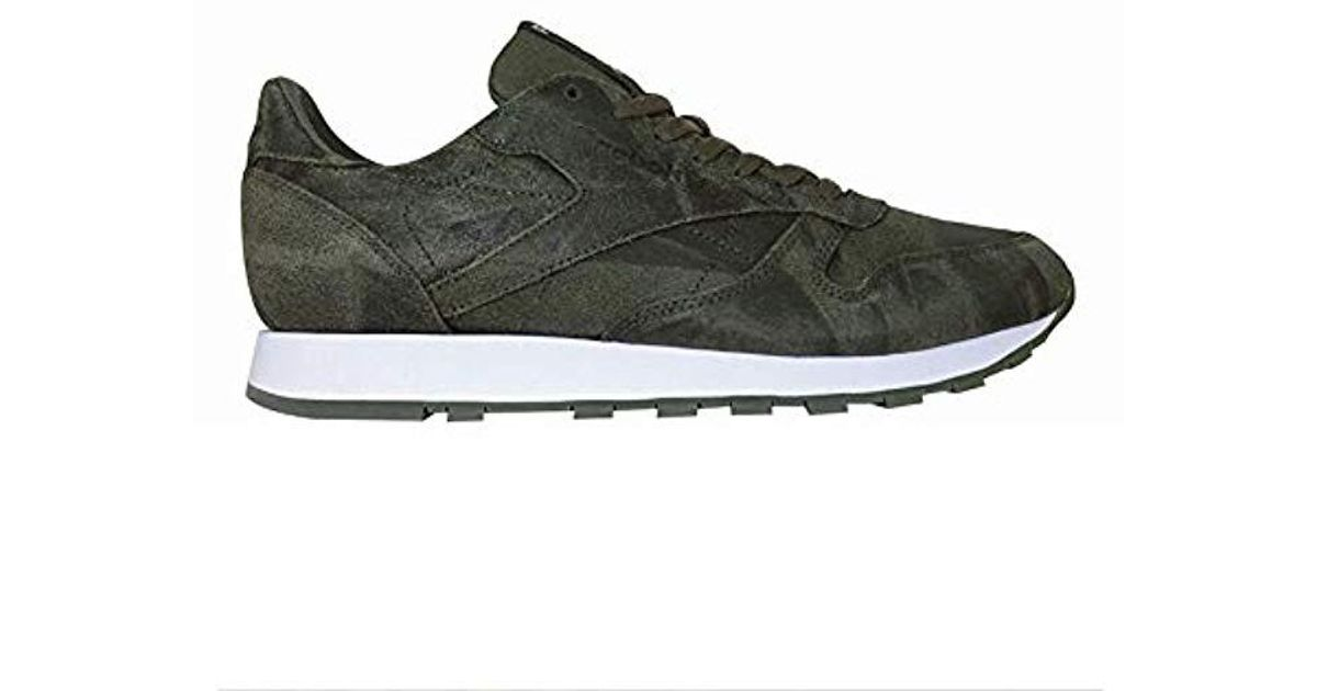 4bdd0dcacb250c Lyst - Reebok Cl Leather Cte Fashion Sneaker in Green for Men - Save 4%