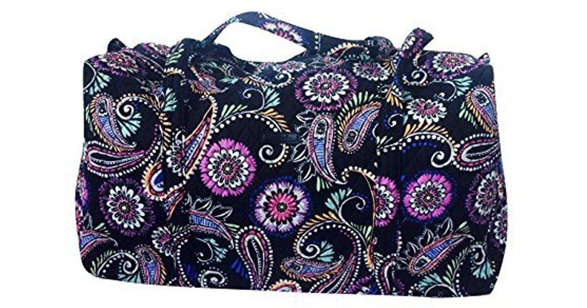 2483a8a9e3 Lyst - Vera Bradley Large Duffel Bag in Blue