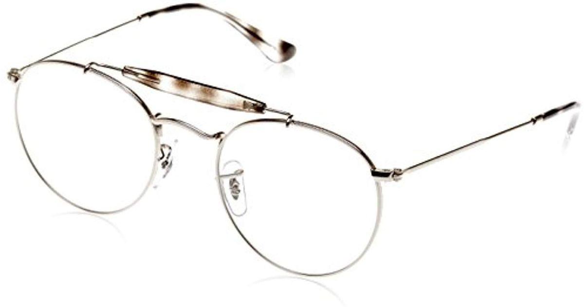 ópticos marcos hombres Ray 0rx 2501 Adultos metalizado 3747v para 50 Ban  plateado Lyst Unisex 7w0U48B 652d795279cf