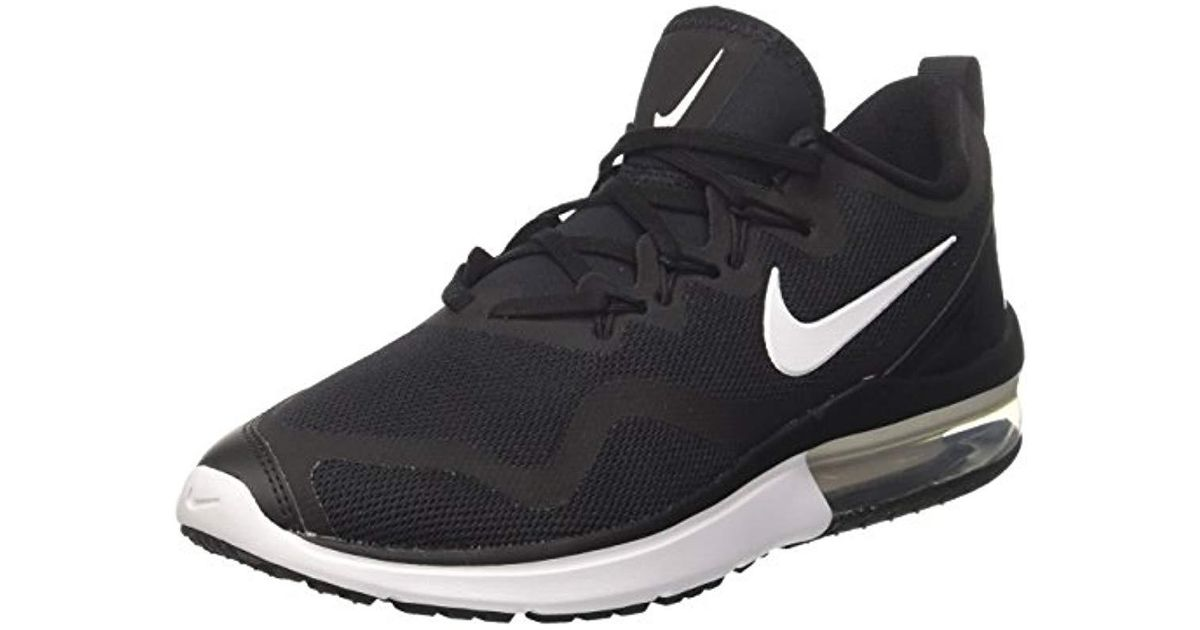 066faf1a33a ... authentic nike wmns air max fury competition running shoes white black  001 6 uk in black