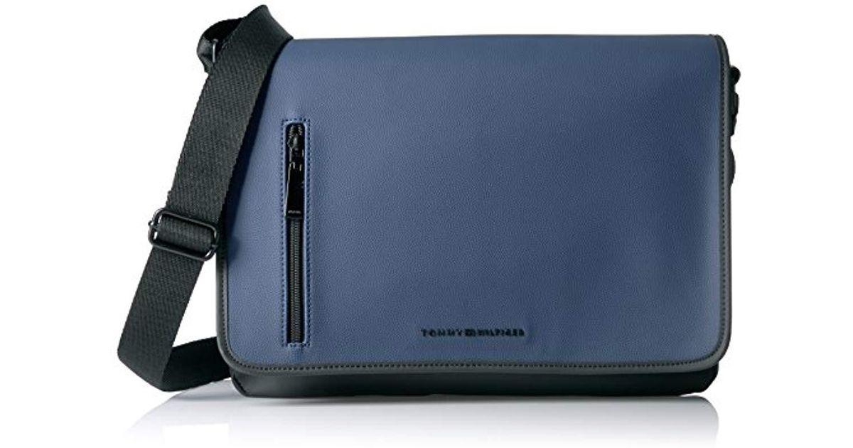 57252bb8be Lyst - Tommy Hilfiger Charles Canvas Messenger Bag in Blue for Men