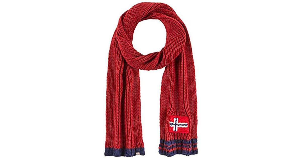 Napapijri Foreil Scarf in Red for Men - Save 21.42857142857143% - Lyst 6a758896a13