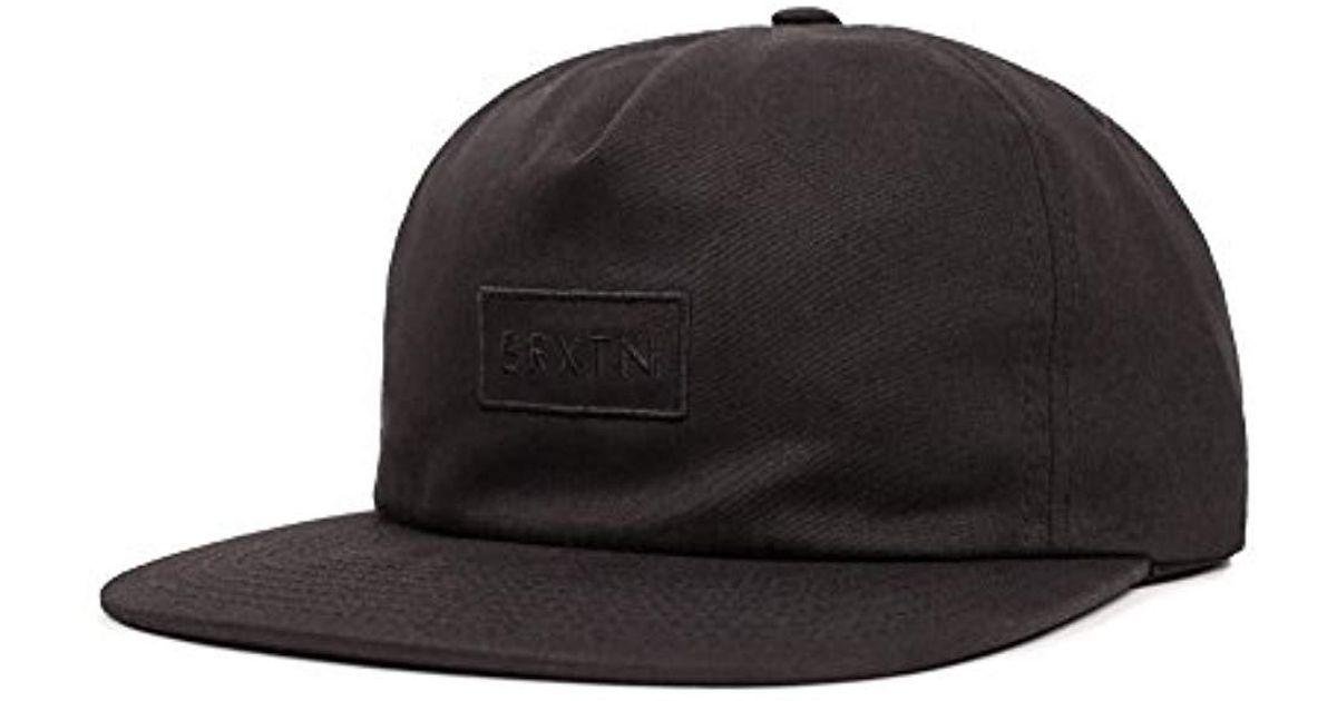5776fce672867 Lyst - Brixton Rift Medium Profile Unstructured Adjustable Hat in Black for  Men