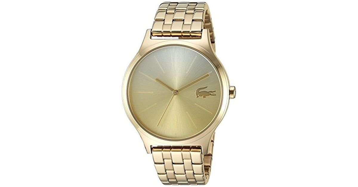 Lyst - Lacoste 'nikita' Quartz And Stainless-steel Casual Watch, Color:gold-toned (model: 2000995) in Metallic for Men