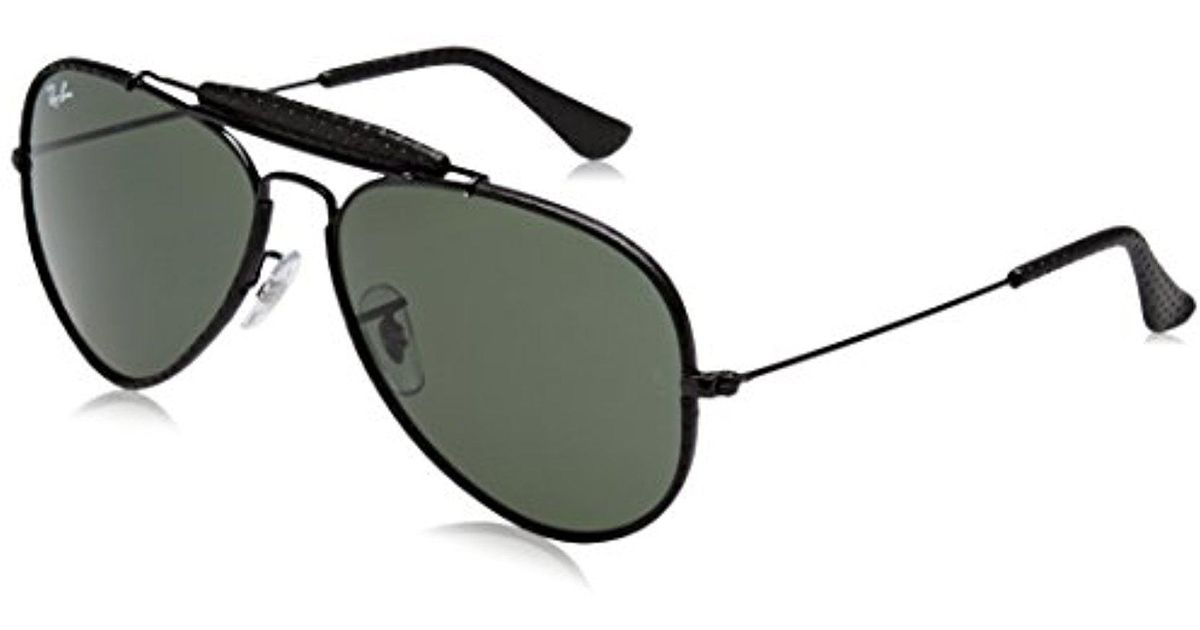 a5b919f9aa ... italy lyst ray ban rb3422q craft outdoorsman ii aviator sunglasses 58  mm in black save 20.207253886010363