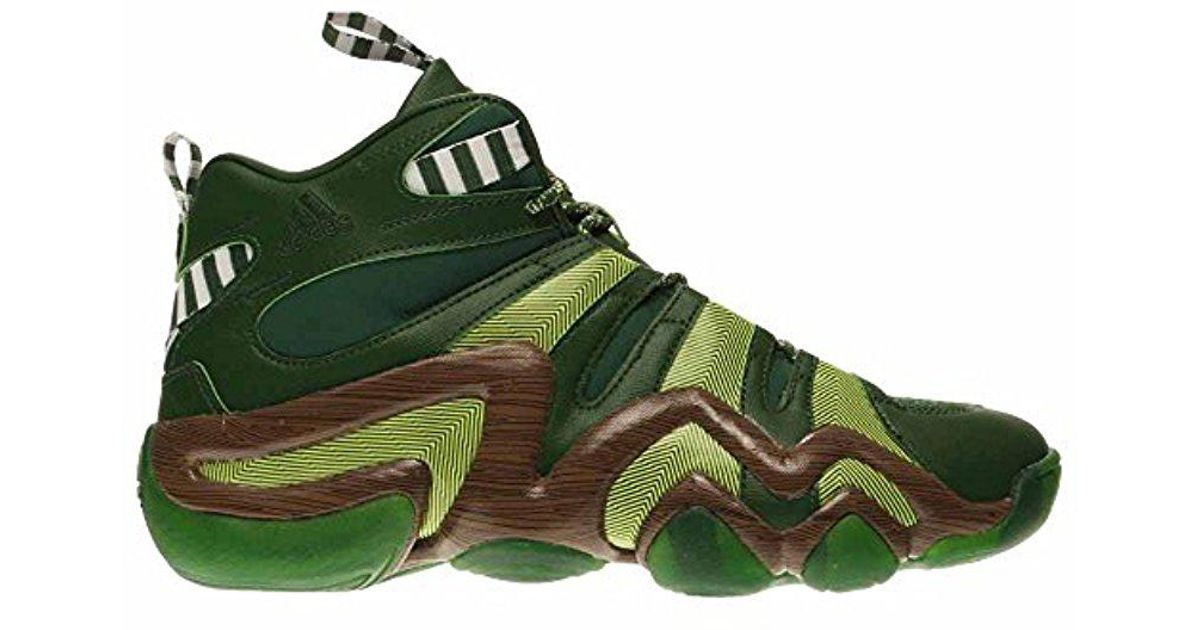 8ea599d82 ... buy lyst adidas originals adidas performance crazy 8 basketball shoe in  green for men bff85 5c3e1 ...