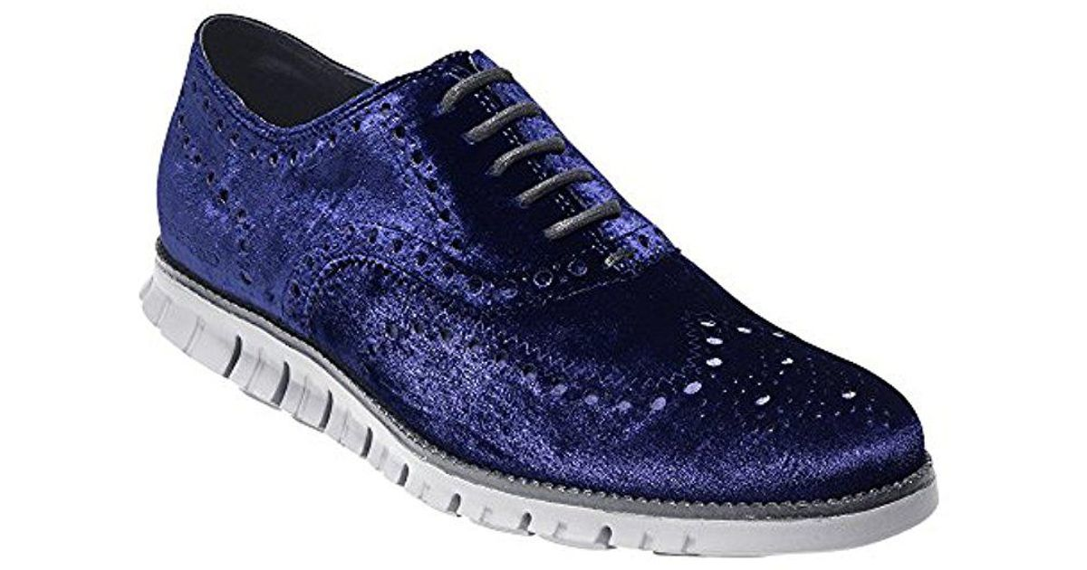 419950e91 Lyst - Cole Haan Zerogrand Wing Ox Leather Oxford in Blue for Men - Save 57%