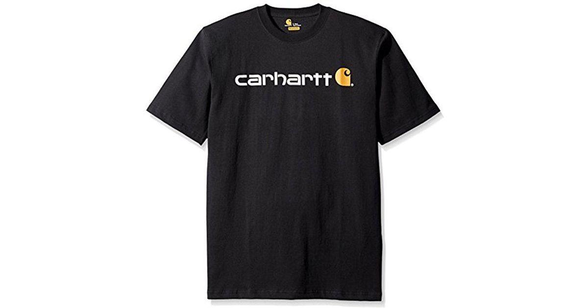 dcb369f50f Carhartt Core Logo Workwear Short-sleeve T-shirt in Black for Men - Lyst