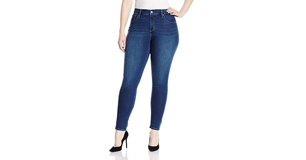 12af989d66ead Lyst - Levi's Plus Size 310 Shaping Super Skinny Jeans in Blue