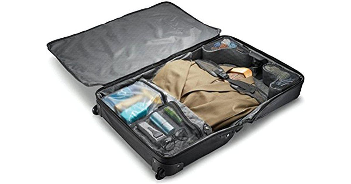 Samsonite Black Solyte Softside Carry On Wheeled Garment Bag For Men