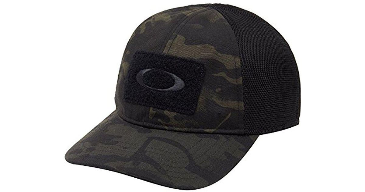 e9457c8a0bc authentic oakley si cap mk2 mod 1 hat mesh 16902 fce8e  clearance oakley  black si cotton cap mc for men lyst 0122a 80232