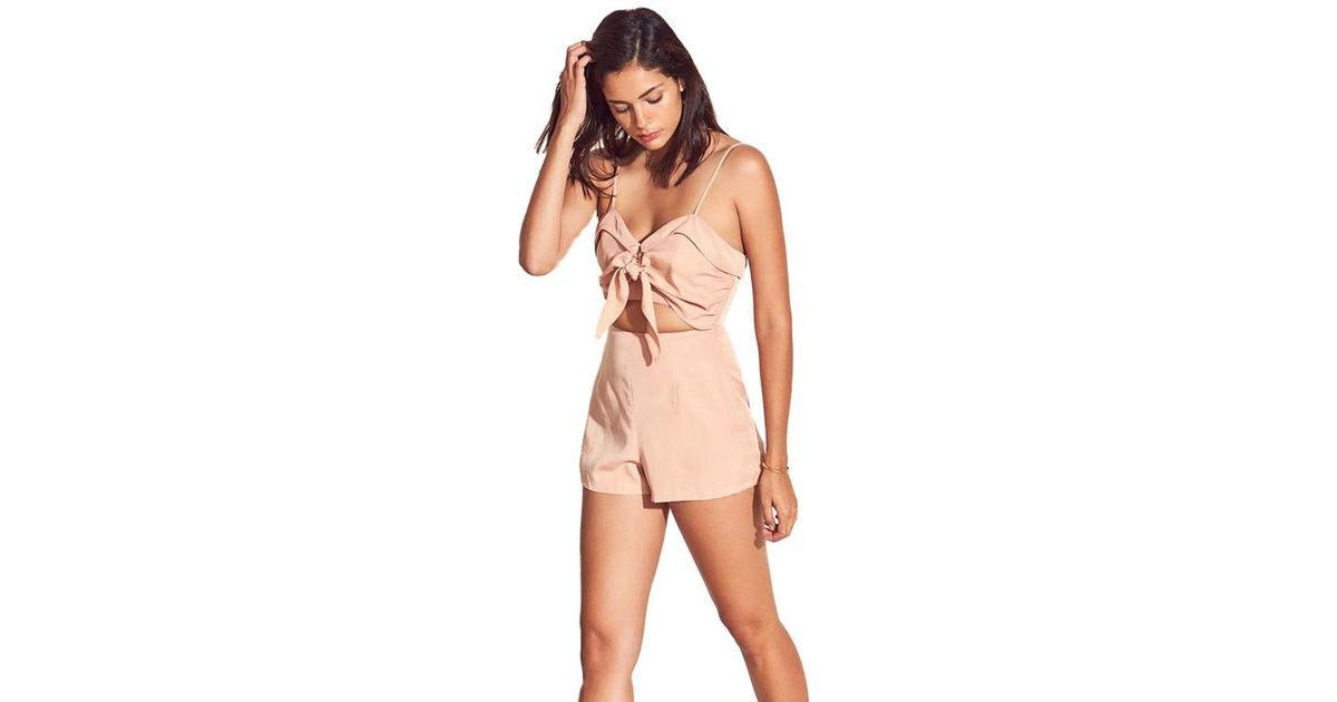 59feaafd932 Lyst - Lovers + Friends On The Go Romper In Dusty Pink in Pink