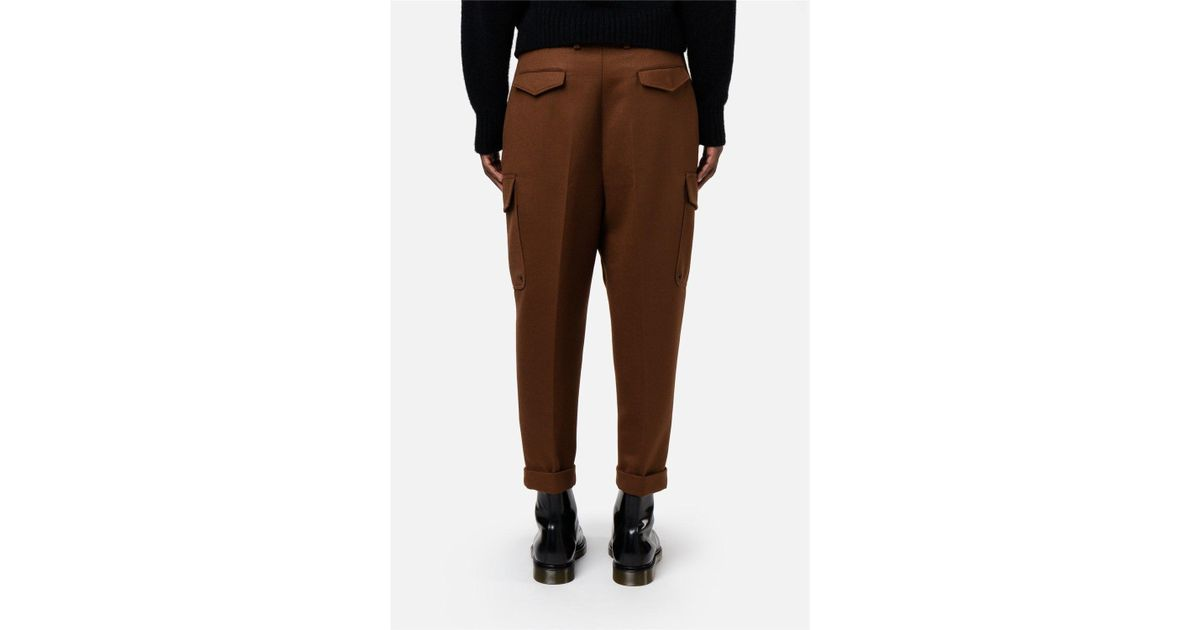 c54ad098d21889 Lyst - AMI Oversized Carrot Fit Trousers in Brown for Men