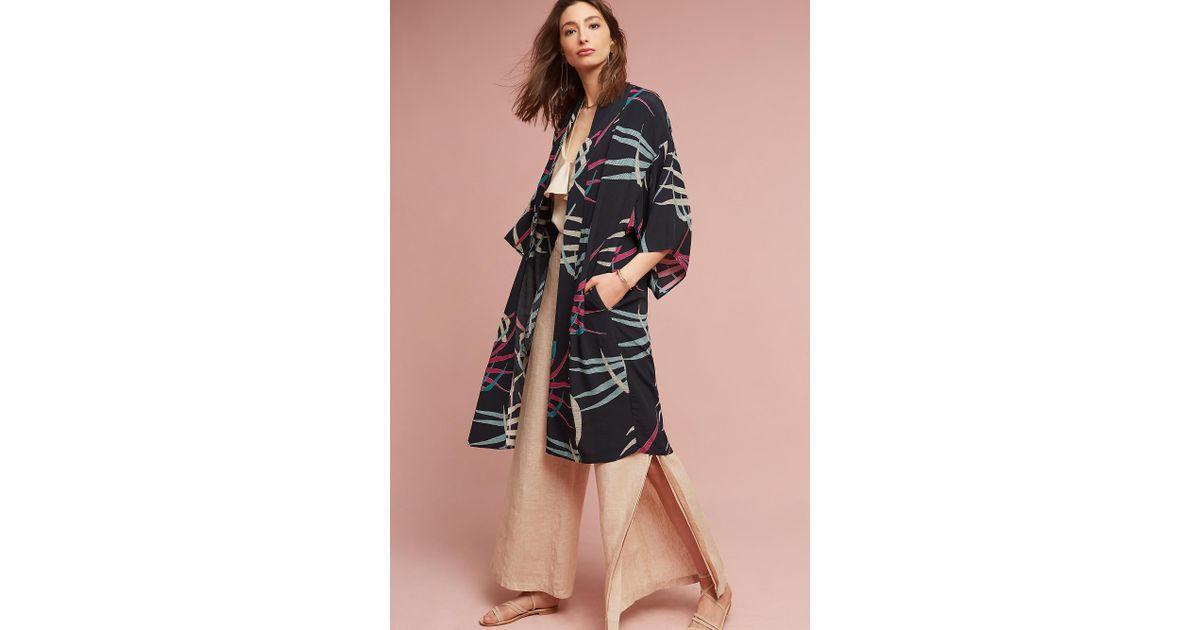 9d4be9ecb60 Anthropologie Kira Long Kimono Jacket in Blue - Lyst
